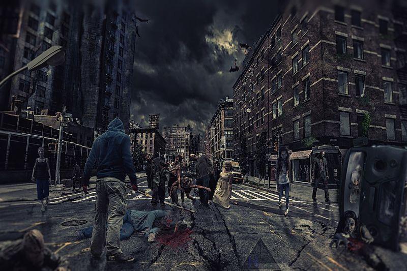 Zombies en calle
