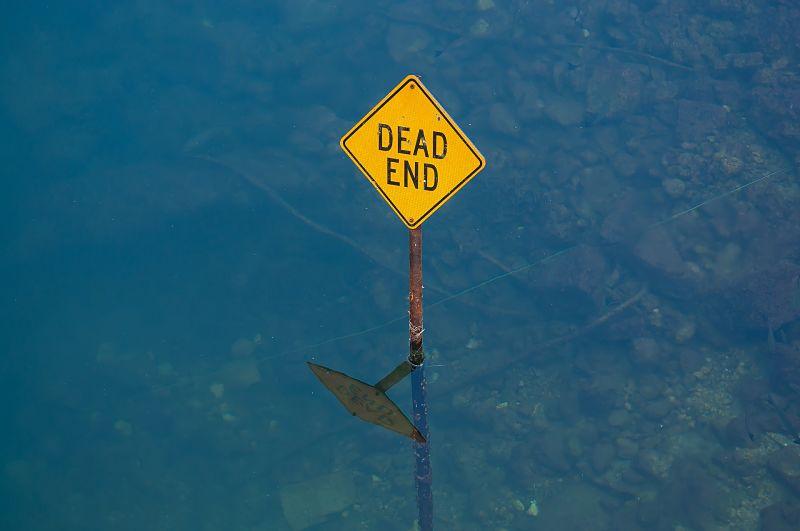 Zona muerta en el agua